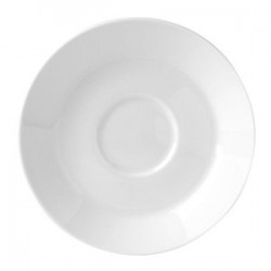Блюдце «Монако»; фарфор; D=112, H=17мм; белый