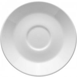 Блюдце «Монако»; фарфор; D=15, H=2см; белый