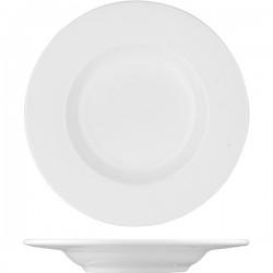 Блюдце «Шиир Вайт»; фарфор; D=165, H=20мм; белый