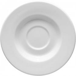 Блюдце «Монако»; фарфор; D=16, H=2см; белый