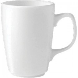 Кружка «Монако»; фарфор; 238мл; L=10, 5см; белый