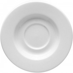 Блюдце «Монако»; фарфор; D=112, H=18мм; белый