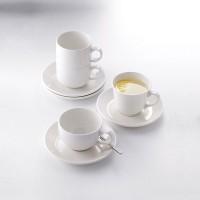 Чашка чайная «Монако»; фарфор; 228мл; D=9, H=6см; белый