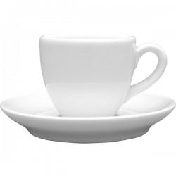 Чашка кофейная «Aida»; 80мл; D=6, H=5, L=9см; белый