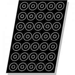 Форма кондитерская «Кольцо»24шт; силикон, стеклопласт.; D=70, H=23мм; черный