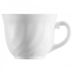 Чашка чайная «Трианон»; стекло; 220мл; D=85, H=65, L=105мм; белый