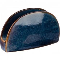 Салфетница «Ирис»; фарфор; H=85, L=140, B=45мм; голуб.
