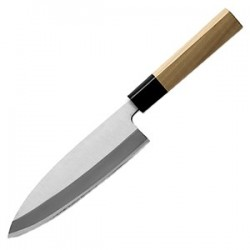 Нож для мяса «Деба»; сталь нерж., дерево; L=16, 5/30, 5см; бежев.,