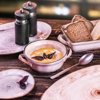 Блюдце для бульонной чашки Pastoral 15.5 см оранжевое