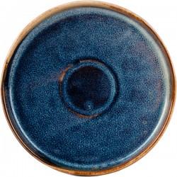 Блюдце «Ирис»; фарфор; D=120, H=18мм; голуб.