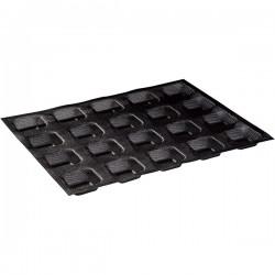 Форма конд. перфорир. «Квадрат» 20шт на листе30х40см2шт; силикон, стеклопласт.; H=2, L=5, B=5см; черн