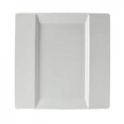 Блюдо квадратное «Фрейм»; фарфор; L=25, 5, B=25, 5см; белый