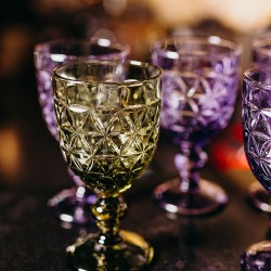 Бокал для вина ;  310мл; D=86, H=163мм; олив.