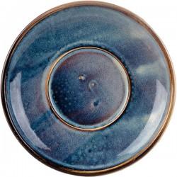Блюдце «Ирис»; фарфор; D=150, H=25мм; голуб.