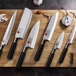 Нож кухонный «Токио» двусторонняя заточка; сталь нерж., пластик; L=300/180, B=42мм