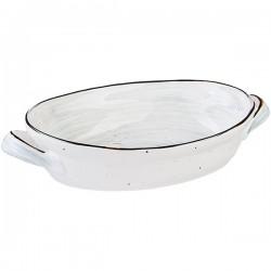 Блюдо овальное для запекания 1250мл; зеленое