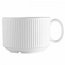 Чашка чайная «Жансан»; фарфор; 180мл; D=77, H=58, L=100мм; белый