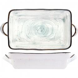 Блюдо прямоугольное для запекания 1л зеленое