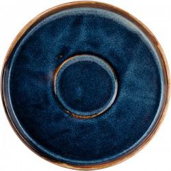 Блюдце «Ирис»; фарфор; D=135, H=20мм; голуб.