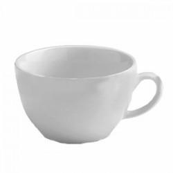 Чашка чайная «Алберго»; фарфор; 320мл; D=110, H=135, B=65мм; белый