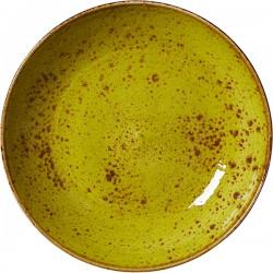 Салатник «Крафт Эппл»; фарфор; 0, 65л; D=205, H=40мм; желто-зел.