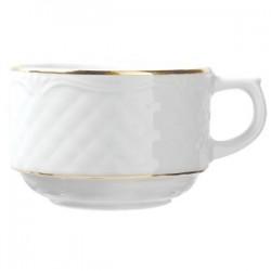 Чашка без блюдца чайная с золотом 190 мл Afrodyta