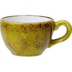 Чашка кофейная «Крафт Эппл»; фарфор; 85мл; D=65, H=50, L=85мм; желто-зел.