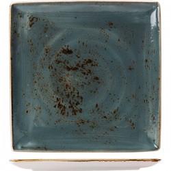 Блюдо квадратное «Крафт»; фарфор; H=18, L=270, B=270мм; синий