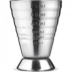 Джиггер 75мл с делениями; нержавеющая сталь, L=52мм