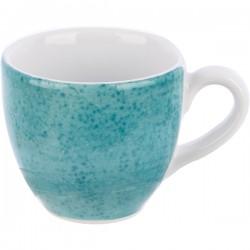Чашка для эспрессо с декором «Aida»; 80мл; бирюзовая