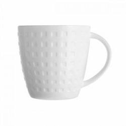 Чашка чайная «Сатиник»; фарфор; 220мл; D=80, H=84, L=100мм; белый