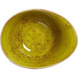Салатник «Крафт Эппл»; фарфор; 450мл; H=75, L=180, B=140мм; желто-зел.