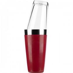 """Шейкер""""Boston"""" со стаканом красный"""