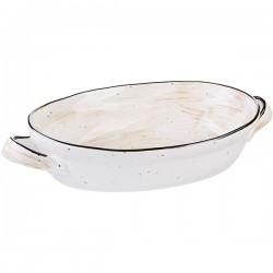 Блюдо овальное для запекания с ручками 1250мл; оранжевое