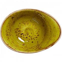 Салатник «Крафт Эппл»; фарфор; 125мл; H=55, L=130, B=95мм; желто-зел.