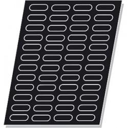 Форма кондитерская «Мини-эклер» 30*70мм48шт; силикон; L=64, B=40см; черный