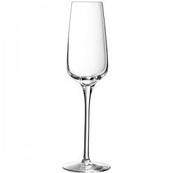 Бокал-флюте «Сублим»; хр.стекло; 210мл; D=6, H=24см; прозр.