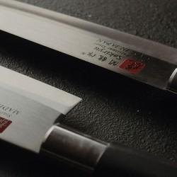 Нож кухонный «Токио» двусторонняя заточка; сталь нерж., пластик; L=235/120, B=25мм