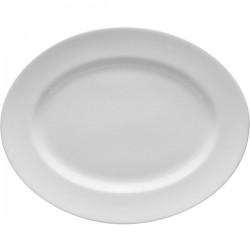 Блюдо овальное «Монако»; фарфор; H=2, L=28, B=22см; белый