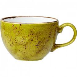 Чашка чайная «Крафт Эппл»; фарфор; 228мл; D=9, H=6см; желто-зел.