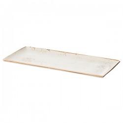 Блюдо прямоугольное «Крафт»; фарфор; H=15, L=370, B=160мм; белый