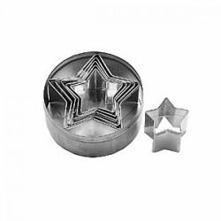 Набор кондитерских форм «Звезда»[6шт]; D=95, H=33мм;