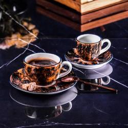 Чашка для эспрессо с декором «Aida»; 80мл; коричневая