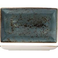 Блюдо прямоугольное «Крафт синий» 27x17 см
