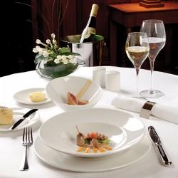 Блюдо «Монако»; фарфор; D=315, H=11мм; белый