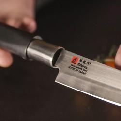 Нож кухонный «Токио» двусторонняя заточка; сталь нерж., пластик; L=290/165, B=45мм