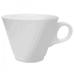 Чашка чайная «Симплисити Вайт»; фарфор; 280мл; D=105, H=75, L=135мм; белый