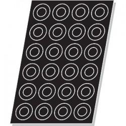 Форма кондитерская «Кольцо» (24шт); силикон; D=80, H=15, L=600, B=405мм; черный
