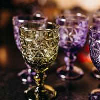 Бокал для вина ; 310мл; D=86, H=163мм; фиолет.