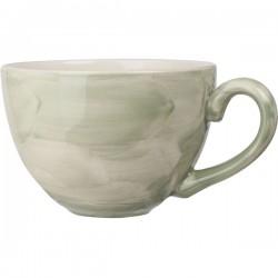 Чашка чайная «Феннель»; фарфор; 450мл; D=12, H=8, L=15см; зелен., бежев.